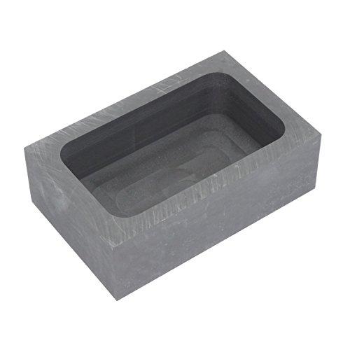 純黒鉛るつぼ 角型 石墨坩堝 鋳造インゴット 鋳型るつぼ シルバーゴールド溶融 金銀銅融解用 (125x80x40mm)