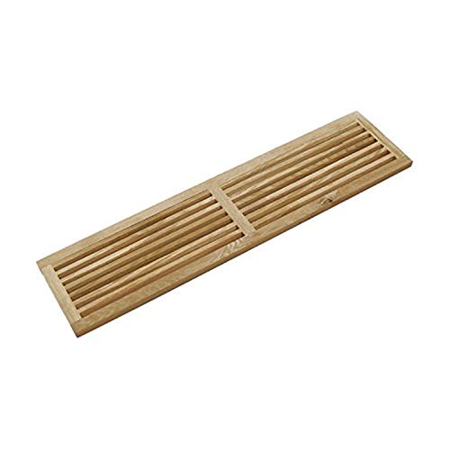 WELLAND Hardwood Register Cold Air Return Wall Vent Unfinished, 8 inch x 36 inch, White Oak