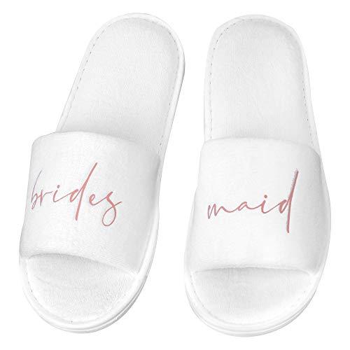 shopandmarry Pantoffeln bridesmaid | Pantoffeln Brautjungfern | Hochzeit | Getting ready | Pantoffeln für den JGA | Hochzeitsstyling
