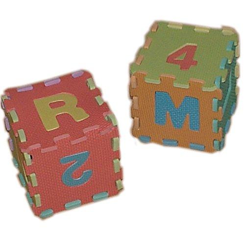 86 pièces Puzzle Tapis Jeu Mousse 180x180cm Chiffre et Alphabet Jouet Educatif pour...