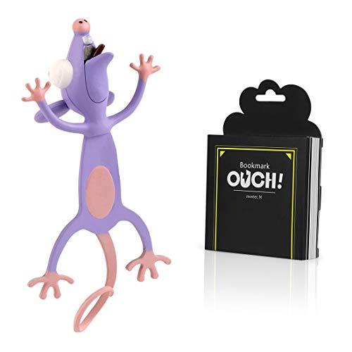 Witzige 3D Stereo Cartoon schön Tier Lesezeichen Lustiges Geschenk für Studenten Kinder tolles Geschenk (Maus)