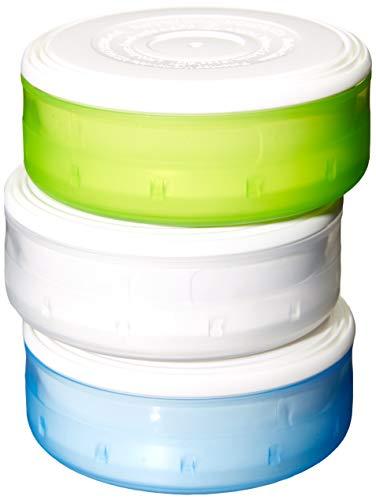 humangear GoTubb 3erPack Reise-Container–Transparent/Grün/Blau, mitttelgroß