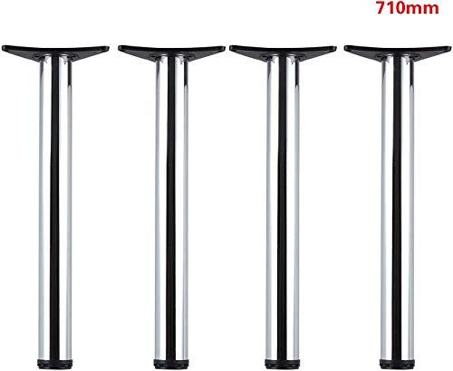 MultiWare 4 Set Tischbeine Tischfüße Tischbein Möbelfuß Möbelbein Edelstahl,71x6cm