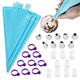 Piping Bags Pastry Bags 36Pcs Reusable Piping Bags and Tips Sets with...
