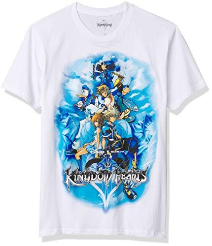 Disney Men's Mickey Mouse, Donald Duck, Kingdom Hearts Game T-Shirt, White , Medium
