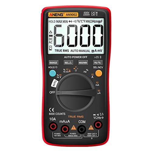 Multímetro inalámbrico Bluetooth (sin batería) multímetro digital profesional para pruebas de corriente y voltaje de múltiples rangos
