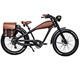 Cheetah 48V 1000W 26inch Cafe Racer Adult Electric Bicycle Beach Cruiser E-Bike (17.5Ah, Full Accesories with Discount)