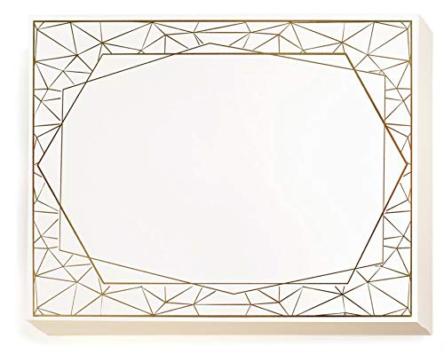 PaperDirect Geometric Border Specialty Certificate, Gold Foil Border on 70 lb. Stock, 8.5 x 11 Inches, Laser and Inkjet Compatible, 50 Count
