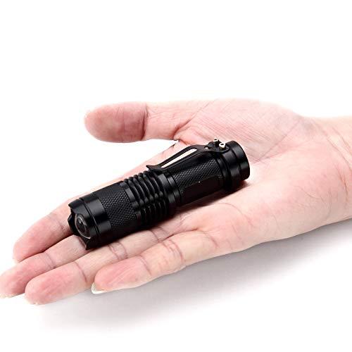 SureShop LED Mini Flashlight 350 Lumens 3 Light Modes Telescopic Focus 14500 Battery