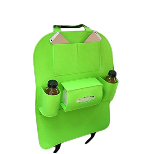 Chytaii Auto Rückenlehnenschutz mit Trittschutz Auto Rücksitz Organizer Sitz Schutz Autositz Rückenlehne Kinder Grün 39x57 cm