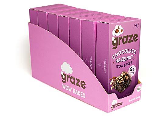 Graze Chocolate Hazelnut Wow Bakes - Vegetarian Healthy Snack 20g (42 Snacks - 7 Packs of 6)