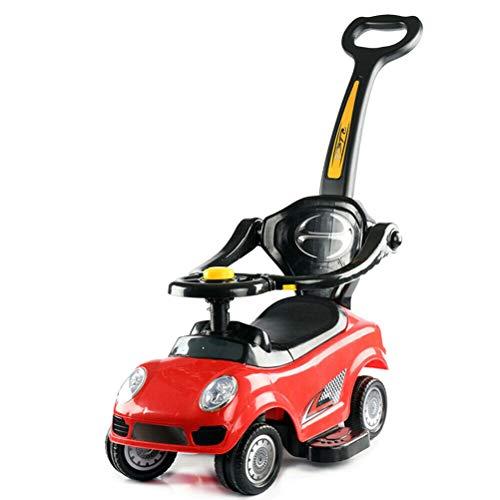 3 in 1 Ride on Push Car, Baby Walker, Kids Push Power Ride on Car con Maniglia Genitore Spingere Bar Vano portaoggetti, Passeggino Convertibile per Bambino