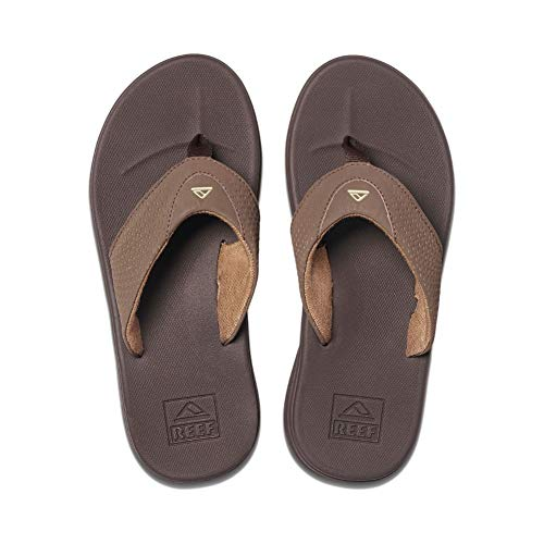 Reef Men's Sandals Rover | Water-Friendly Men's Sandal with Maximum Durability and Comfort | Waterproof | Brown | Size 9