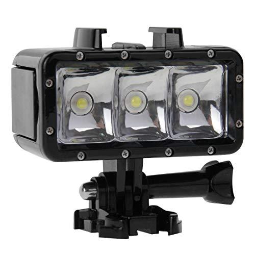 30M Luz de vídeo Impermeable Linterna 3 Modos con Base de Montaje y Tornillo for GoPro Hero Nuevo / HERO6 / 5/5 Sesión/Sesión 4/4/3 + / 3/2/1, Xiaoyi y Otros Cámaras de Acción Calidad sin preocupaci