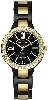 MESTIGE Womens Quartz Watch, Analog Display and Brass Strap MSWA3148