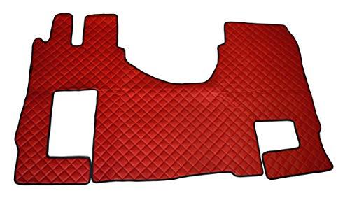 Rouge Tapis de sol Eco Cuir couvertures pour Actros MP4 manuel Boîte de Vitesse Left Hand Drive Trucks