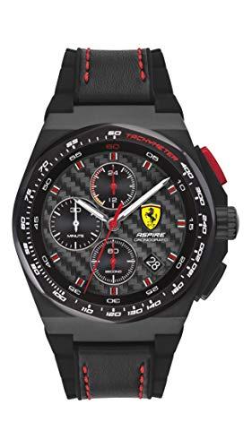 Scuderia Ferrari Herren Analog Quarz Uhr mit Leder Armband 830792