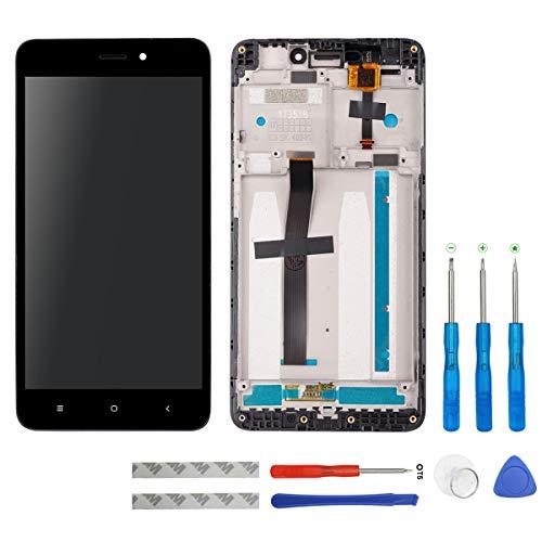 swark Pantalla LCD para Xiaomi Redmi 4A, color negro, pantalla táctil, digitalizador, cristal de montaje, marco y herramientas