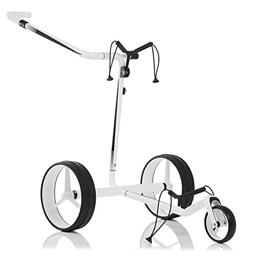 Find Discount JuCad Carbon Travel Electric Trolley Cart White/Black