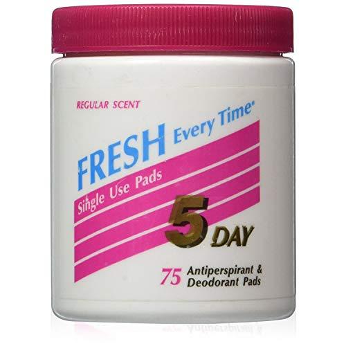 5-day5 DÍAS Antitranspirante Desodorante Pads Regular Scent 75 cada uno, Paquete de 3, 3 uds. por paquete, 3.00[set de ]