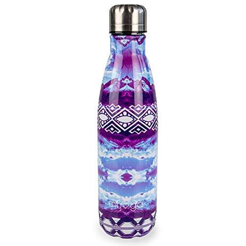 Myga 500ml Metaal Herbruikbare Geïsoleerde Vacuüm Roestvrij Staal Water Fles - Dubbelwandige Leak Proof BPA-Gratis Dranken Fles Flesje voor Outdoor Sport - Houdt Hete en Koude Dranken - Patroon