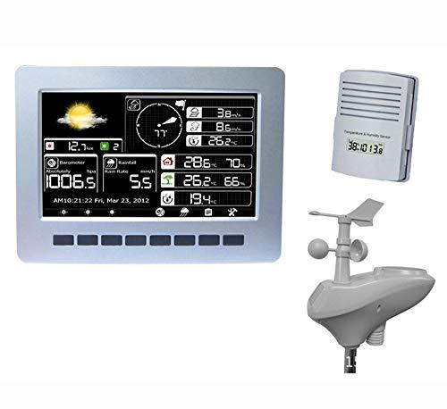 X-Home Stazione Meteo Wireless, sensore Professional 10-in-1 ad Alta precisione, WiFi Solare Ricarica, Grande immagazzinamento Memoria, sulle previsioni Meteo