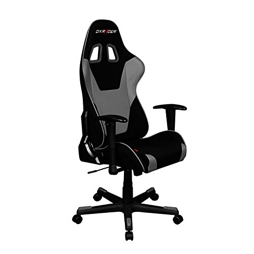 DXRacer Formula Series OH/FD101/NG Racing Seat Office Chair Gaming Ergonomic Adjustable Computer Chair with - Includes Head and Lumbar Support Pillows (Black/Gray) chair gaming gray