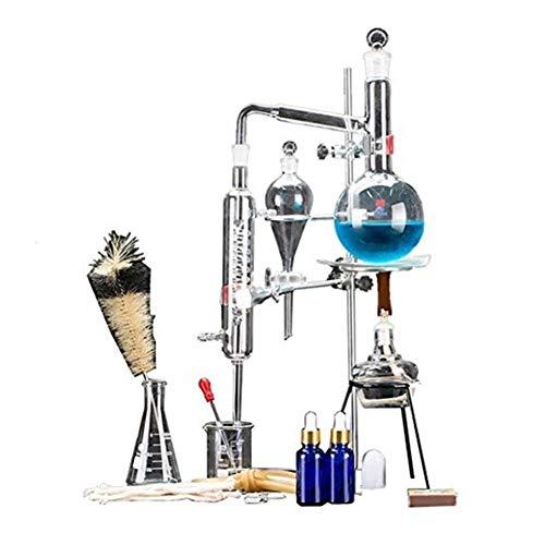 Sucastle 500 ml Nuevo destilador de Vidrio DIY Lab Conjunto