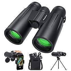 top 10 good small binoculars Usogood 12X50 adult binoculars with tripod, waterproof compact bird watching binoculars, …