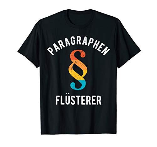 Paragraphen Flüsterer | Retro Anwalt Richter Jurist Geschenk T-Shirt