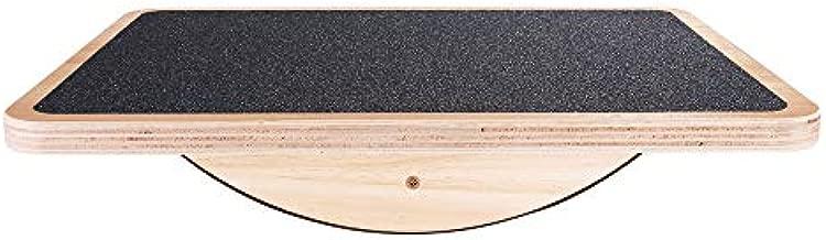 StrongTek Professional Wooden Balance Board, Rocker Board, 17.5 Inch Wood Standing Desk Accessory, Balancing Board for Under Desk, Anti Slip Roller, Core Strength, Stability, Office Wobble Boards …