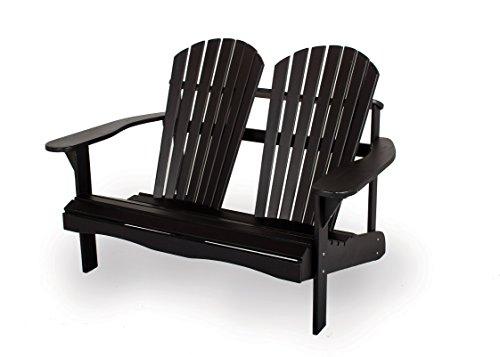 MaximaVida adirondack Gartenbank Toronto 130 cm, schwarz, aus exklusivem Mahagoni Hartholz