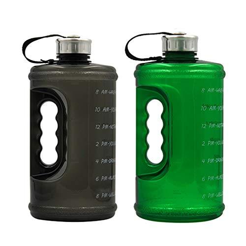 MERIGLARE 2pcs Botella de Agua Portátil Jarra Taza Tetera Ciclismo Al Aire Libre Gimnasio Senderismo 73 Oz