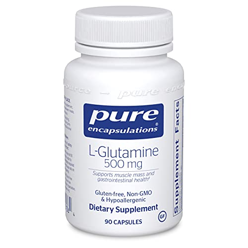 Pure Encapsulations L-Glutamine 500 mg | Supplement for Immune and Digestive Support, Gut Health and Lining Repair, Metabolism Boost, and Muscle Support | 90 Capsules