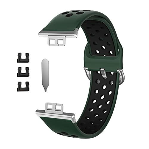 Silicona Sport Correa Agujeros transpirables Pulsera para Wei Watch Fit Fitness Smart Watch Hombres Mujeres Reemplazo Muñeca Correa Correa