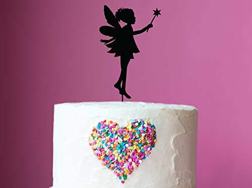 Laser Cut Fee Verjaardag Taart Topper - Aangepaste Kleine Meisje Fee Kinderen Verjaardag Feest Taart Decoratie - Fee Taart Topper Gemaakt om te bestellen Maker