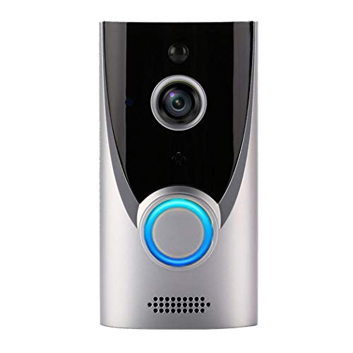 SMILICA Home WiFi Smart Wireless Security Doorbell Visual Intercom Recording Video Kits Silver