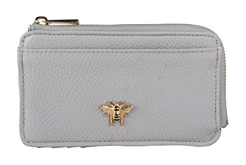 Alice Wheeler Bumble Bee Coin and Card Purse (Grey)