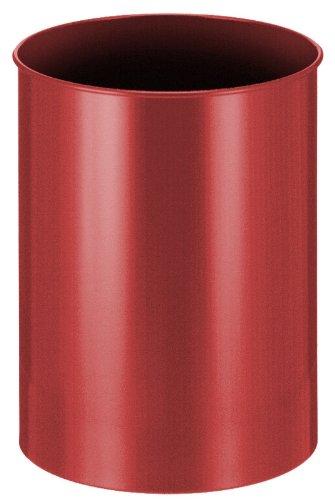 V-Part Corbeille à papier en métal Rouge 30 litres