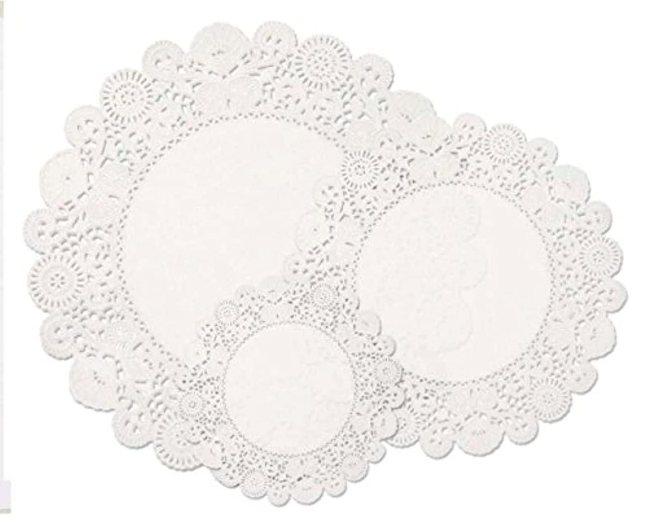Hygloss Products White Round Doilies- Assorted Size Decorative Doily Pack Made in the USA, 96 Pieces