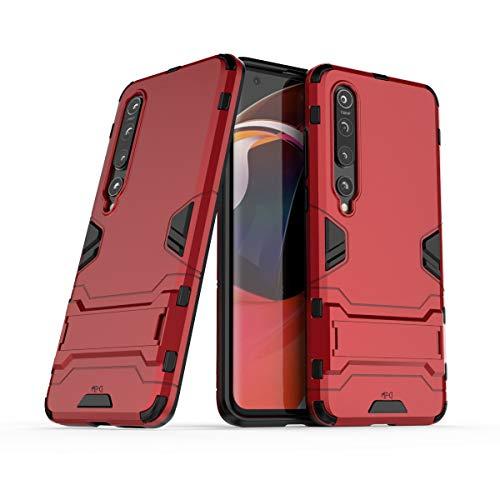 Max Power Digital Funda Protectora para móvil Xiaomi Mi 10 / Mi 10 Pro Carcasa Híbrida Antigolpes Resistente 360 Dura Rígida Reforzada Original Silicona TPU + PC Case (Xiaomi Mi 10 / Mi 10 Pro, Rojo)