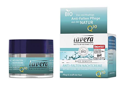 lavera Anti-Falten Nachtcreme Q10 - Nachtpflege, 50 ml