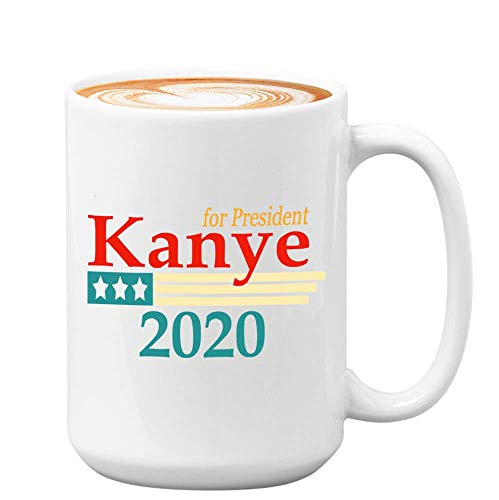Kanye West Coffee Mug - Kanye West For President 2020 - Kanye West Bro President Usa 2020 Kim Kardashian Kan Yay Yeezy Yeezus Fan (11oz,White)