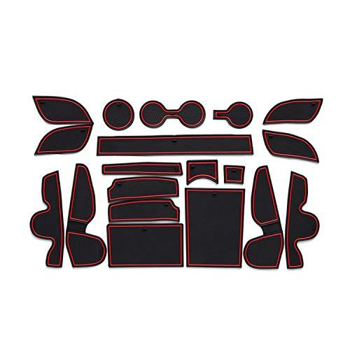 CDEFG para Hyundai Tucson TL Coche Accesorios Antideslizante Copa Mats Anti Slip Puerta Ranura de Acceso Kit de la Estera del cojín de la Ranura decoración de Interiores (Rojo)