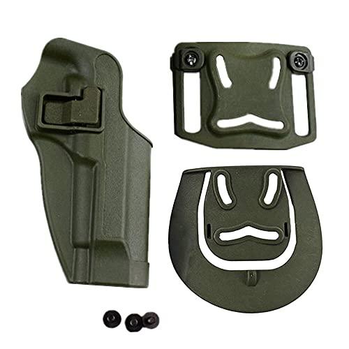 Haoyipu Funda de Pistola táctica con Accesorios de Pistola, Funda de cinturón de Pistola Airsoft de Caza, Funda de Pistola, pistoleras de Cintura for M9 / 92