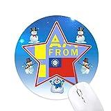 je suis du myanmar bonhomme de neige, tapis de souris série star mat