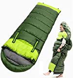 Camping 0 Degree Sleeping Bag Wearable Lightweight Waterproof Warm & Cold Weather - 32℉/0℃ for Adults & Kids,Backpacking,Hiking,Outdoor and Indoor