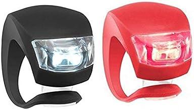 Fietslicht, voor en achter siliconen LED fietsverlichtingsset met batterij Waterdichte mistlampen voor fiets, LED fietslic...