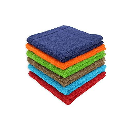 Acomoda Textil - Paños de Cocina 100% Algodón, Toallas de Rizo 50x50 cm, Trapos Absorbentes, Suaves y Resistentes 500 gr/m². (Lisos, 6)
