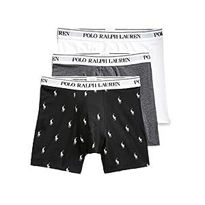 413twH94MBL. SS300  - Ralph Lauren - Boxer Hombre Pack de 3 Piezas Color Blanco/Gris/Negro con Logos 714662050053 - Multicolor, M